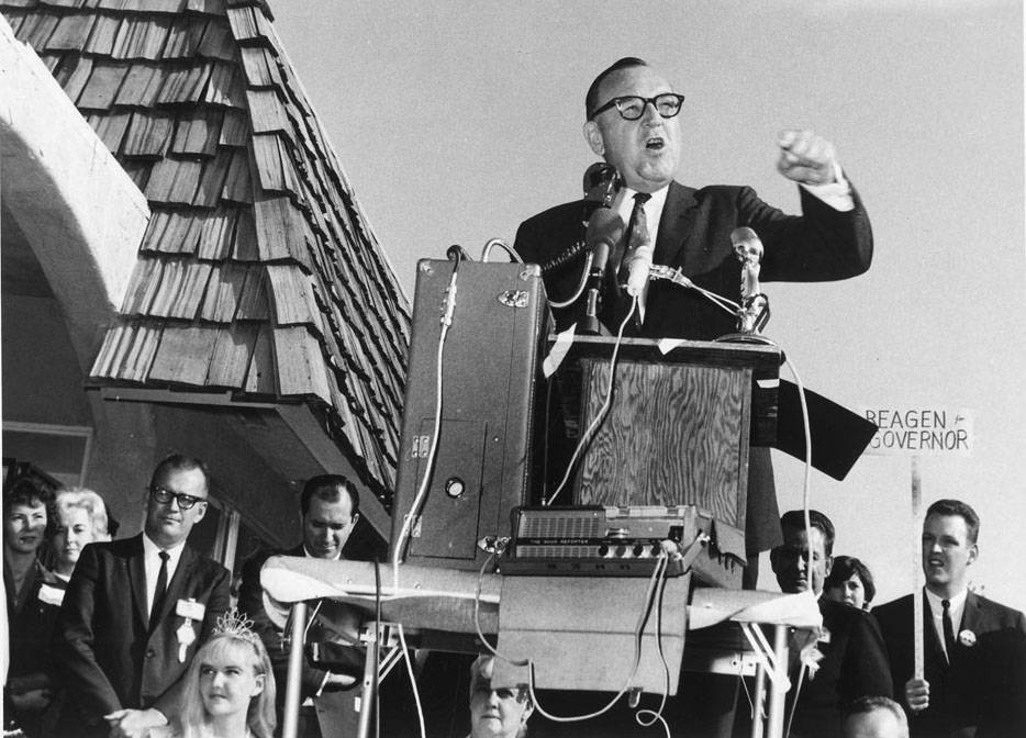 Pat Brown campaigning in 1966