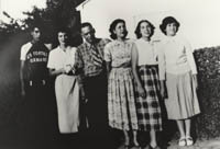 David Ordonez with parents and three sisters
