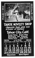 Tahoe Novelty Shop Tahoe City, Calif.