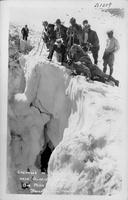 Crevasse in Palisade Glacier near Glacier Lodge, Big Pine, Calif