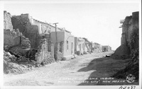 """A Street in Acoma Indian Pueblo, """"The Sky City"""", New Mexico"""