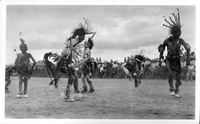 Horsetail Dance by Taos Indians