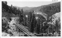 Railroad Bridges, Tunnels and State Highway, Keddie, Calif.
