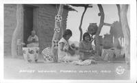 Basket Weaving, Papago Indians, Ariz.