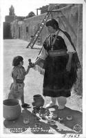 Pottery Vendors, Tesuque Indian Pueblo, N.M.