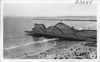 Long Beach California with Warships on the Horizon