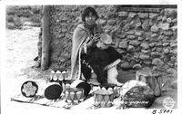 Cochiti Pueblo Indian Making Drums