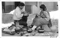 Tonita and Juan, San Ildefonzo Indian Pottery Makers, N.M.