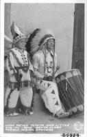 """Jose Reyes Tofoya and Little """"Eye-Ay"""" (Bow) Santa Clara Pueblo Indian Dancers"""