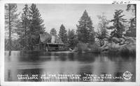 "Movie Set of the Production ""Trail of the Lonesome Pine"" - Cedar Lake, near Big Bear Lake, California"