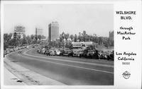 Wilshire Blvd. through MacArthur Park Los Angeles California