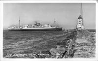 The Chichibu Maru Leaving Los Angeles Harbor, California