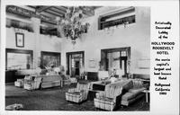 Lobby Hollywood Roosevelt Hotel Hollywood California