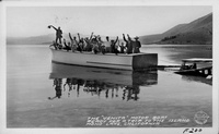"The ""Venita"" Motor Boat Ready for a Trip to the Island Mono Lake, California"
