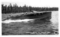 Speed Boat at Meeks Bay Lake Tahoe, Calif.