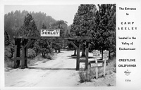 The Entrance to Camp Seeley Crestline California