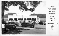 The new Post Office and Bank Building Big Bear Lake California