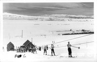 The Eastern Sierra Ski Club on the McGee Creek Ski Lift, Mono County, Calif.
