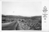 The Highway through Morongo Valley to Twnety-nine Palms California