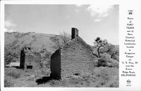Ruins of Fort Tejon one of Kern County's Historical Landmarks located in Grapevine Canyon U.S. Hwy.99 over the Scenic Ridge Route California