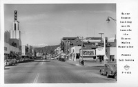 Garey Avenue looking north towards the Sierra Madre Mountains Pomona California