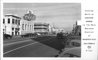 Looking North On Chester Avenue in the Main Business District of Bakersfield California