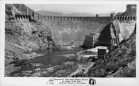 Roosevelt Dam and Power House as seen from the Apache Trail, Arizona