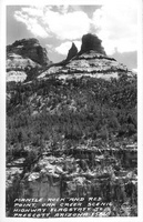 Mantle rock and Red Point, Oak Creek Highway Flagstaff to Prescott, Arizona