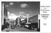 Looking North of San Fancisco Street Flagstaff Arizona
