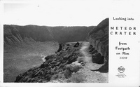 Looking into Meteor Crater from Footpath on Rim