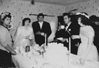 A table at the reception of Daniel and Lupe Herrera