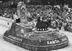 "Tournament of Roses Rose Parade ""Remembering"" float for Santa Ana, 1949"
