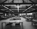 Interior of McFadden Branch Library on 2627 West McFadden Avenue, 1971