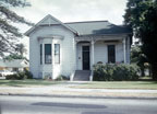 House on the south west corner of First Street and Parton as seen in 1962