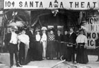 Santa Ana's first motion picture theater in 1908