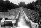 Open canal of the Anaheim Union Water Company between the Tuffree Reservoir and Fullerton