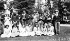 Young Rubes of Santa Ana High School on Rube Day about 1912