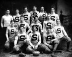 Boys' Football Team from Santa Ana High School, Class of 1908
