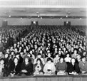 Santa Ana Journal Cooking School crowd inside Broadway Theater on 416 N Broadway, 1935