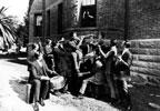 Orchestra serenading Bebe Daniels in jail in 1921