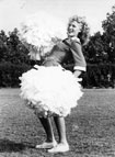 Shirley, Christenson, assistant song leader at Santa Ana High School in 1943.