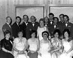 Group showing U.S. Air Force mothers and men in uniform in 1969