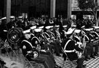 Marine band at dedication of Santa Ana City Hall on February 9, 1973