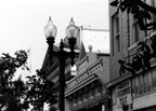 View of buildings and street light in the 100 block of E. 4th, 1993