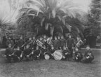 Columbia Marching Band with W. Frank Harris, leader, in Birch Park