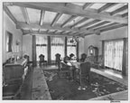 View of the dining room in the Philip Stanton residence on Brookhurst Road in Anaheim