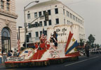 "Float ""We the People"" moving south on Main Street during the Santa Ana Golden City Days parade, October 17, 1987"
