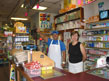 Employees at the front counter of the Fiesta Imperial Market on Fourth Street, August 2002