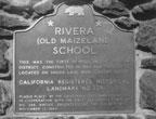 Plaque for Rivera (Old Maizeland School), California Historical Landmark 729, September 1, 1971