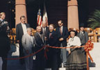 Ribbon cutting at the rededication of the Old Orange County Courthouse on November 12, 1987